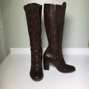 Frye Adrienne Military Button Boots